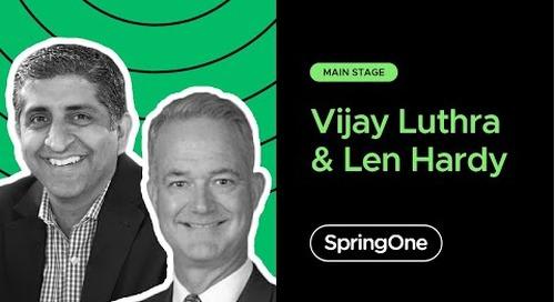 Vijay Luthra and Len Hardy at SpringOne 2020