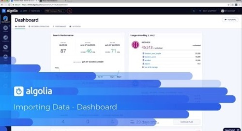 Importing data with the dashboard