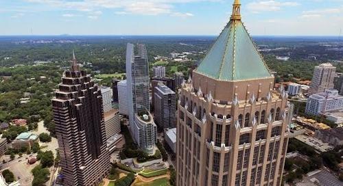 UAV/Drone Views of Atlanta's Midtown + Buckhead Business Districts (Q2, 2015)