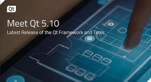 Meet Qt 5.10 – Latest Release of the Qt Framework and Tools {on-demand webinar}