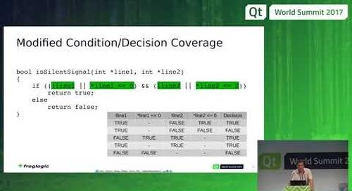 QtWS17 - Test coverage of Qt C++ and QML, Harri Porten, froglogic