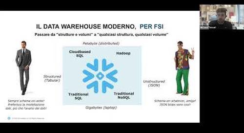 Snowflake Data Platform per un Data Warehouse moderno