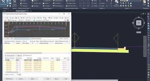 Project Explorer in Civil 3D