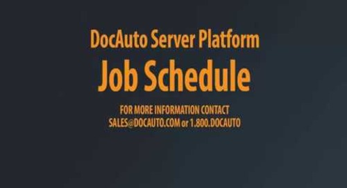 DocAuto Server - Job Schedule