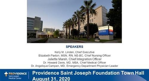 Providence Saint Joseph Town Hall August 31, 2020