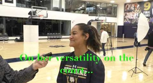 Anaya Peoples Notre Dame Media Day