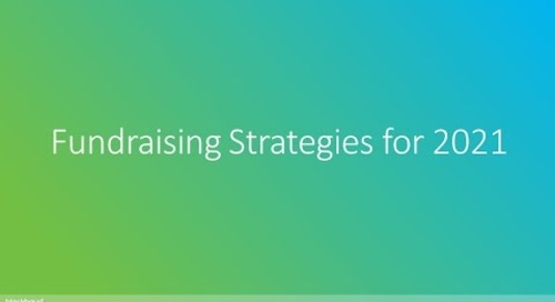 Fundraising Strategies for 2021
