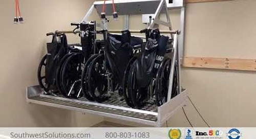 Wall-Mounted Wheelchair Storage Automatic Lift