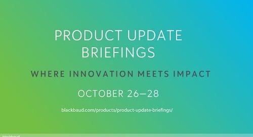 Blackbaud Product Update Briefings