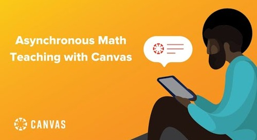 Asynchronous Math Teaching with Canvas LMS