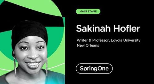 Sakinah Hofler at SpringOne 2021