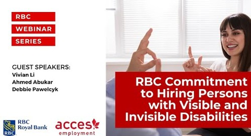 RBC Royal Bank Webinar | RBC Commitment to Hiring Persons with Visible and Invisible Disabilities