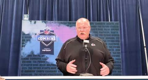 Andy Reid on His offensive line coach, Fighting Irish Great Andy Heck