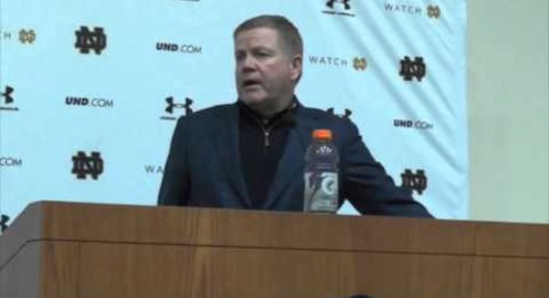 Brian Kelly: Music City Bowl Press Conference