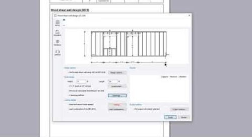 Wood shear wall design (NDS)