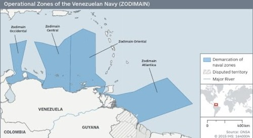 Venezuela's territorial dispute with Colombia and Guyana