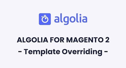 Algolia for Magento 2 | Template Overriding