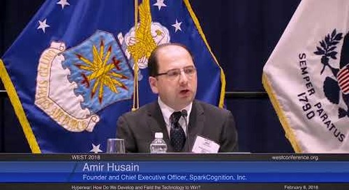 SparkCognition's Amir Husain at the U.S. Naval Institute's WEST 2018 Conference