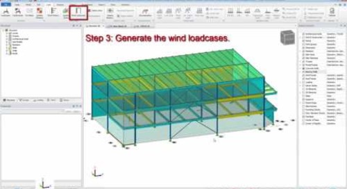 Automatically Generate Wind Loads in Tekla Structural Designer