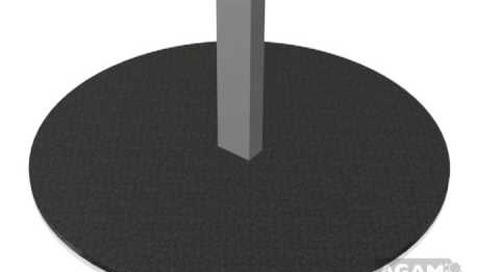 AGAM Round 12-inch Floor Base Using 625 Stem 104