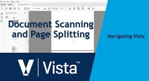 Document Scanning and Page Splitting