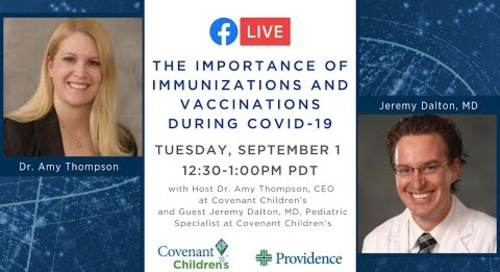 The importance of immunizations and vaccinations during COVID-19