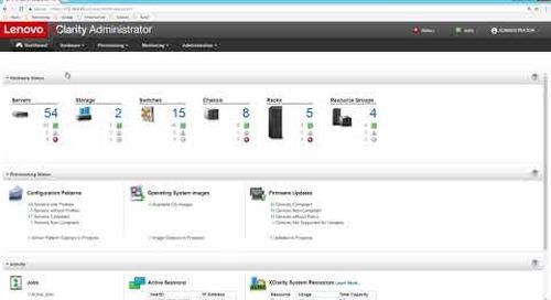 Lenovo XClarity Administrator Inventory Demo