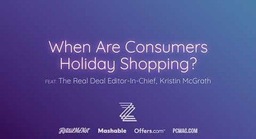 When Are Consumers Holiday Shopping?