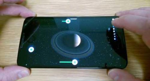 3D Planets demo running in Boot to Qt on Android