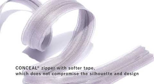 YKK® CONCEAL® Zipper No.2 BPR Tape
