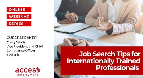 Job Search Tips for Internationally Trained Professionals