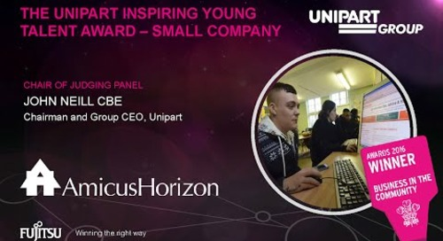 The Unipart Inspiring Young Talent Award - Amicus Horizon - Judges Comments