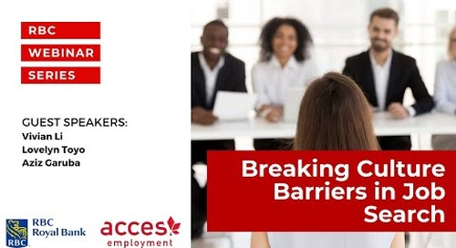 RBC Royal Bank Webinar | Breaking Culture Barriers in Job Search   The Do's and Don'ts