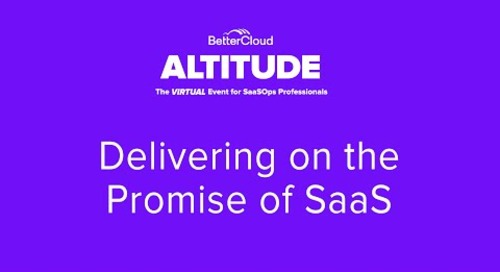 [ALTITUDE20 Keynote] Delivering on The Promise of SaaS