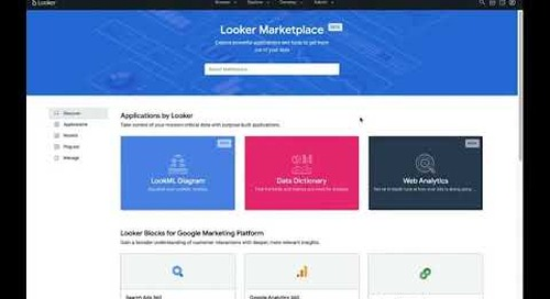 Accelerating Development with the Looker Blocks and Marketplace