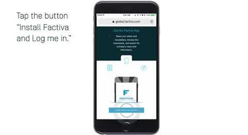 Factiva Mobile - 4 Ways To Sign In