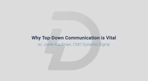 Why Top Down Communication is Vital