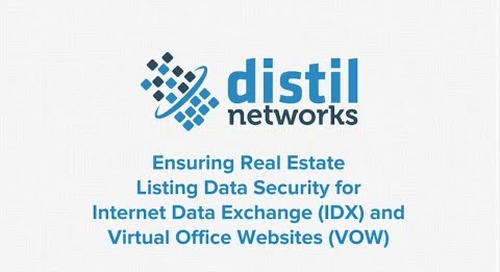 Ensuring Real Estate Listing Data Security for Internet Data Exchange (IDX) & Virtual Office Websites (VOW)