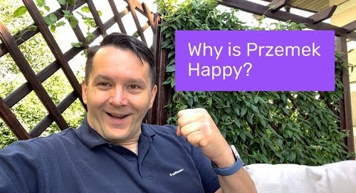 Why is Przemek Happy?