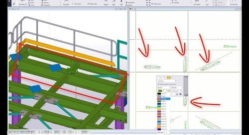 Tekla Structures 2018 New Feature - Modify Model Objects Properties From GA Drawing