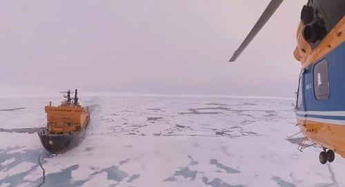 North Pole: Journey Onboard the 50 Years of Victory (360° VR)