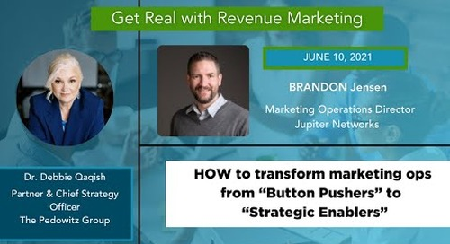 HOW TO Transform Marketing Operations with Data and Analytics