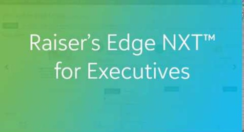 Raiser's Edge NXT for Executives