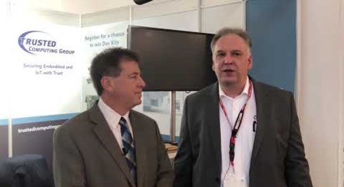 Rich Nass talks talks with Guenter Fischer about Trusted Computing Group at electronica 2018