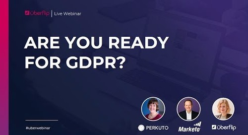 Are You Ready for GDPR? Webinar Recording