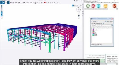 Production Tracking in Tekla PowerFab