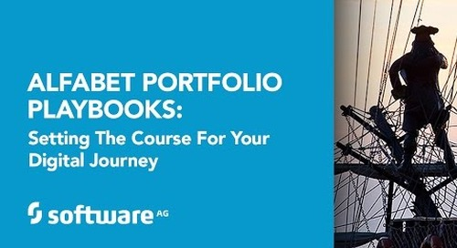 Alfabet Portfolio Playbooks: Setting the Course for your Digital Journey: August 2, 2016