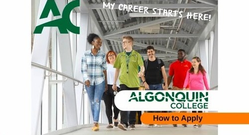 How To Apply to Algonquin College - Webinar
