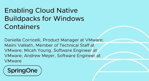 Enabling Cloud Native Buildpacks for Windows Containers