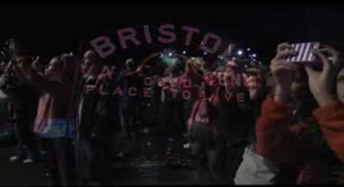 Bristol Sign Goes Pink